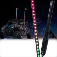 """Светодиодный ФлагШток """"Bright Line BLACK"""" Bluetooth , led whip , хлыст"""