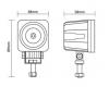 Светодиодная фара 10 Ватт ближнего света 5 см