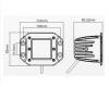 Светодиодная фара 18 Ватт ближнего света 12 см
