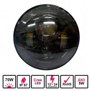 Светодиодные фары 70 Ватт комбинированного света 18 см